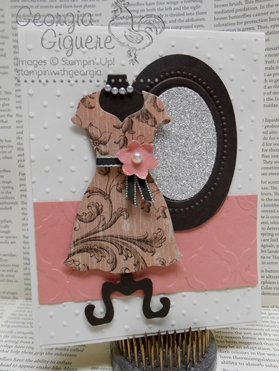Dress Up Card w Mirror