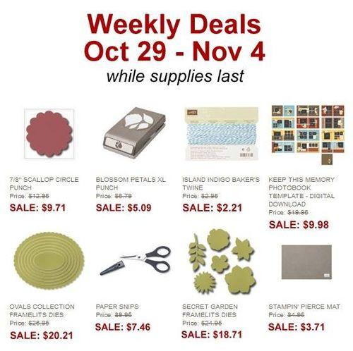 Weekly Deals Oct 29
