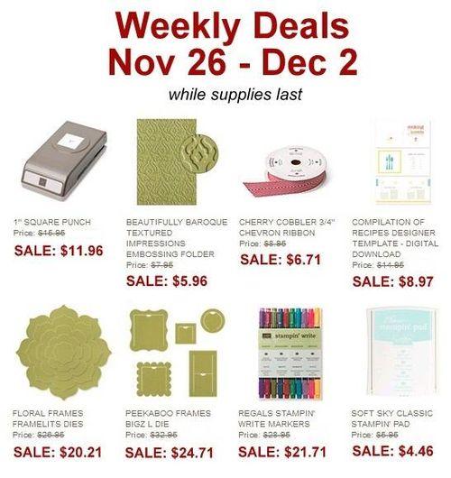 Weekly Deal Nov 25