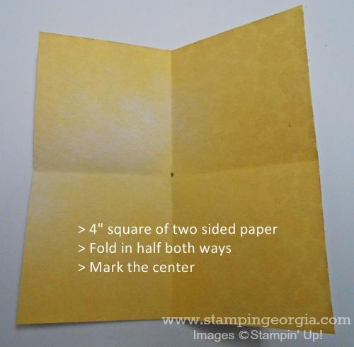 Fun Fold Step 1