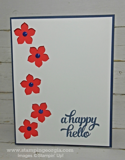 Tin of Cards Flower Card