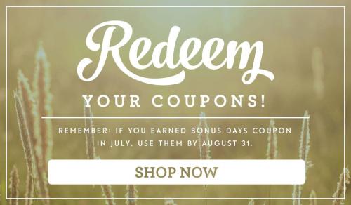 Bonus Coupons Redeem