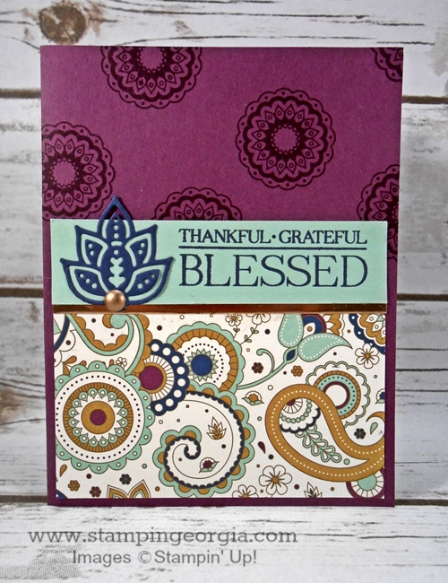 Paisleys & Posies Card