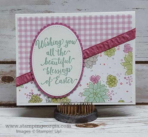 Succulent Garden Easter Card