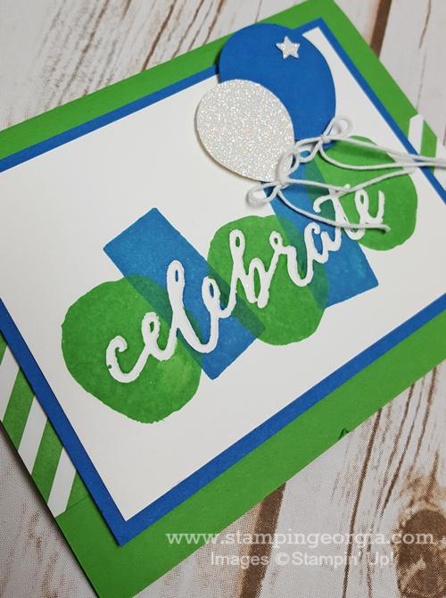 Celebrations Duo Card close up