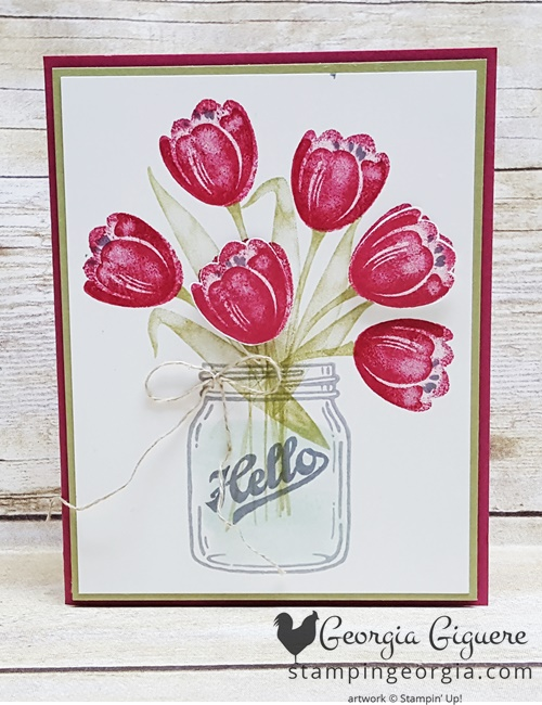 Tranquil Tulips Card