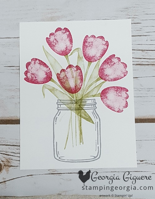Tranquil Tulips Step 1