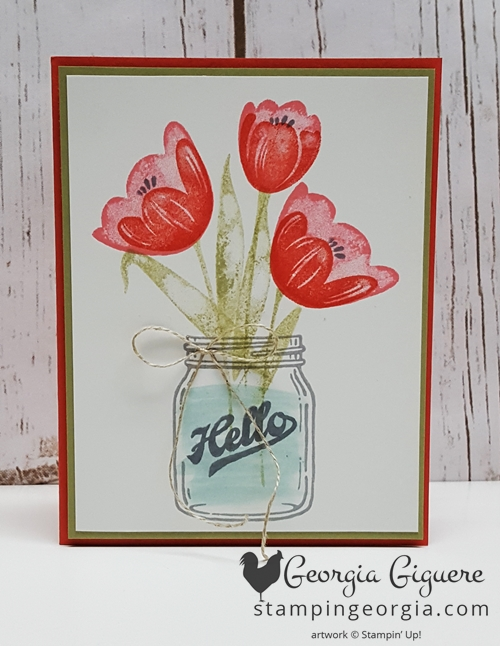 Tranquil Tulips Coral Front