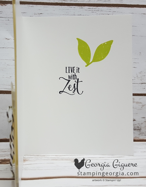 Lemon Zest Lemon Lime Card inside