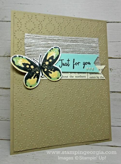 Watercolor Wings CC card