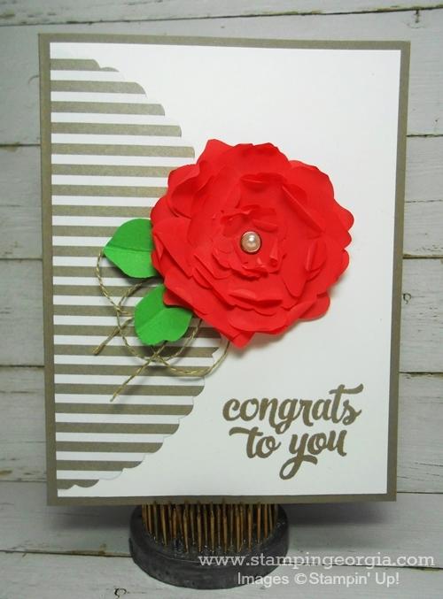 Cotton Paper Flower Card