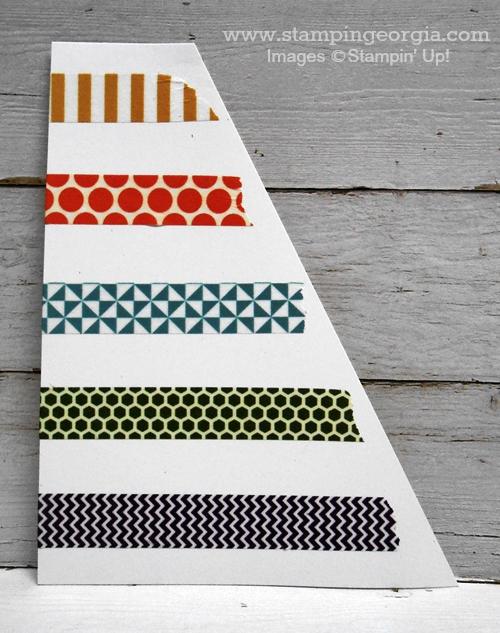 Diagonal with washi