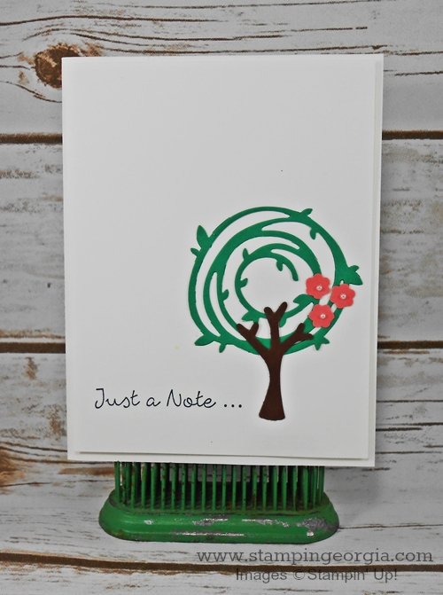 Swirly Bird Tree Card