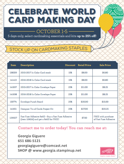 World Card Making Day w info