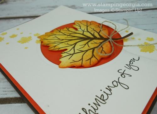 Sheltering Tree Leaf Card Flat