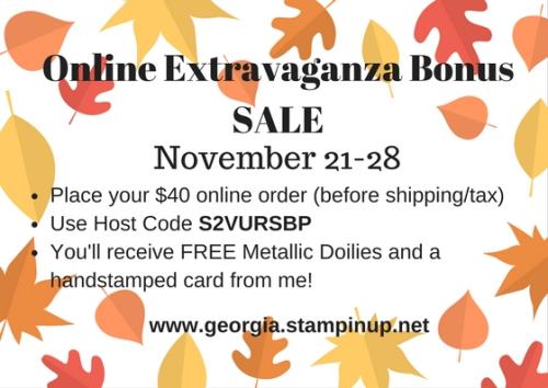 Online Extravaganza Bonus Sale