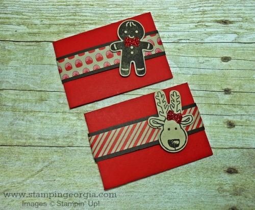 Cookie Cutter Christmas Gift Card Envelopes