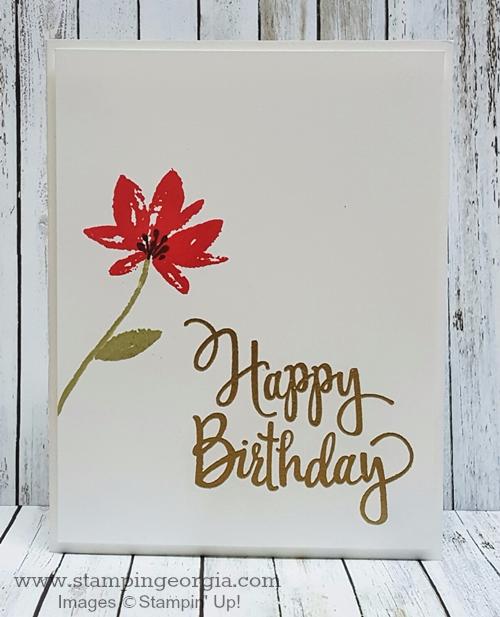 Avant Garden Birthday Card