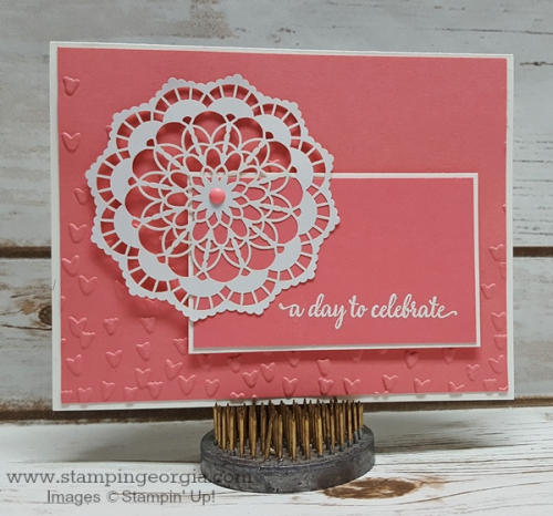 Falling Petals Flirty Flamingo Card
