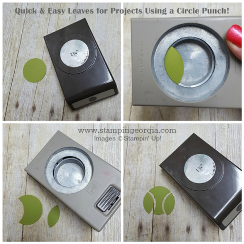 Make Leaves with A Circle Punch