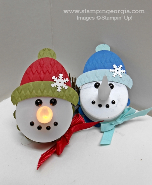 Snowmen tealights