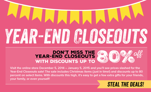 Year End Close Outs Graphic