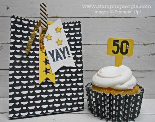 Altered Treat Bag Cupcake