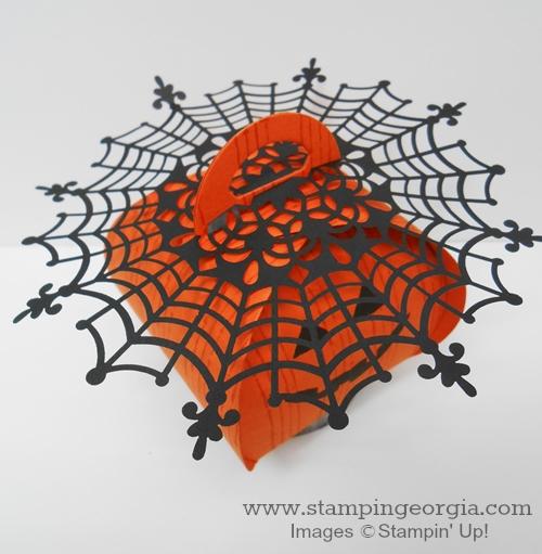 Doily on Curvy Keepsake Pumpkin