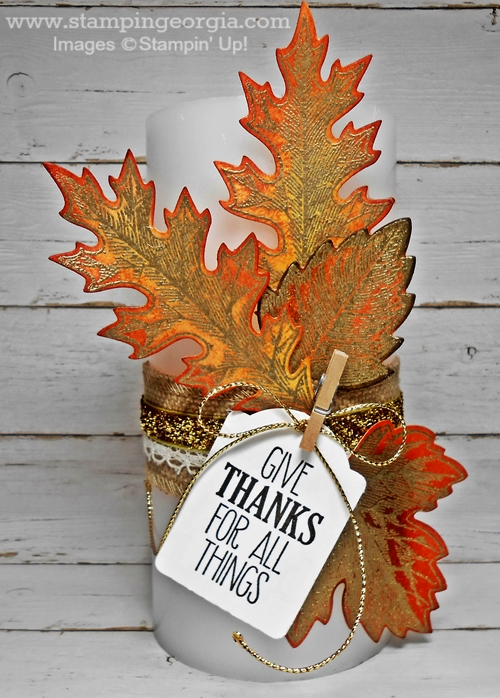 Vintage Leaves Candle