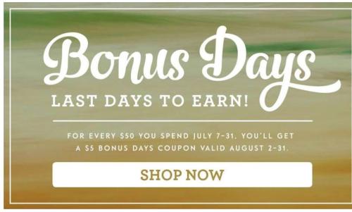 Bonus Days Last Days