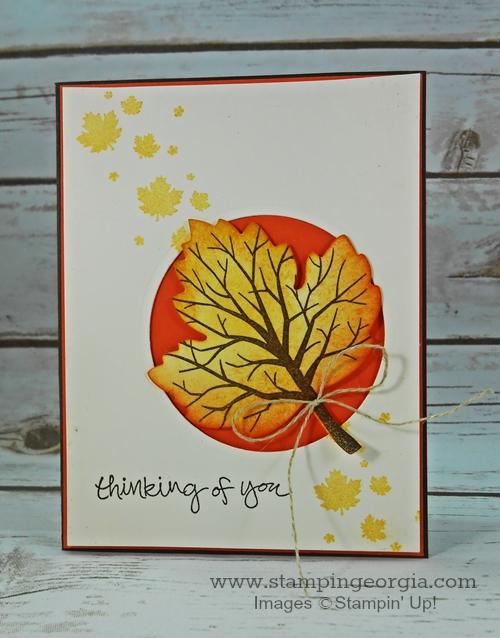 Sheltering Tree Leaf Card