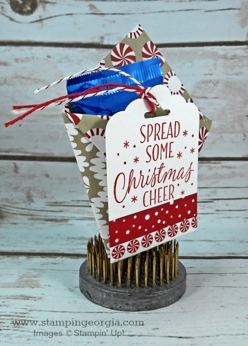 Candy Cane Lane Treat Holder Side