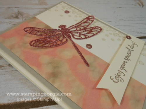 BB Glimmer Detailed Dragonfly Card Flat