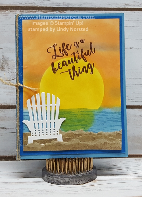 Colorful Seasons Beach Card