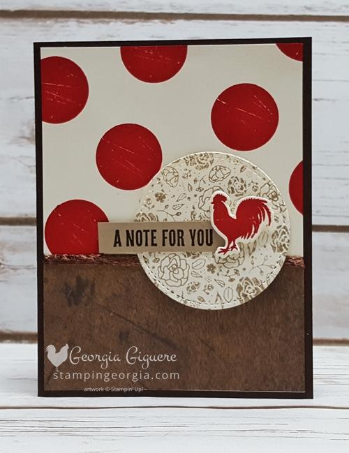Wood Words Chicken Card