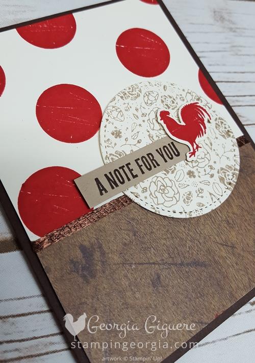 Wood Words Chicken Card Flat