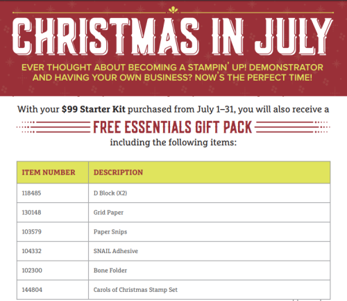July Christmas in Essentials Pack