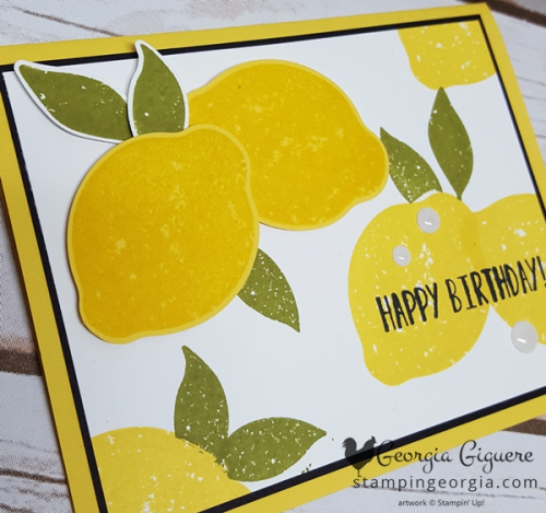 Lemon Zest Card Flat